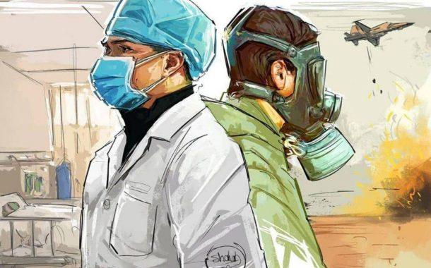 پوستر تقدیر آمیز از پزشکان و پرستاران