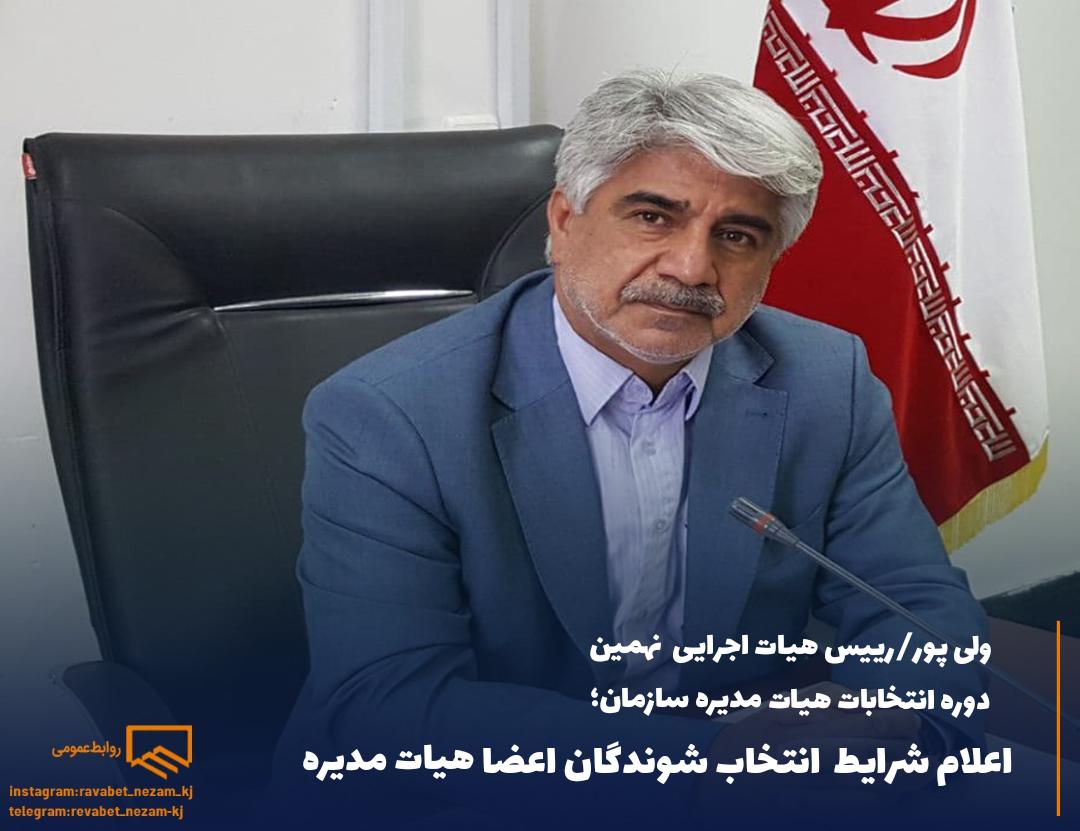 شرایط انتخابشوندگان اعضاء هیات مدیره سازمان استان